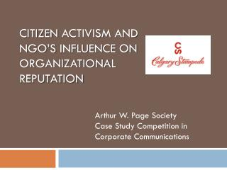 citizen  activism  and  NGO's influence on organizational  reputation