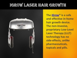 iGrow Laser Hair Growth - Best Hair Regrowth Treatment