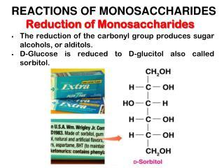 Reduction of Monosaccharides