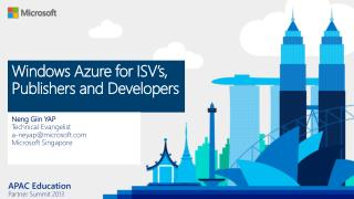 Windows Azure for ISV's, Publishers and Developers