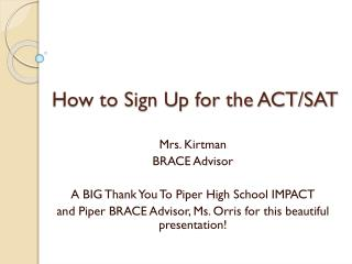 How to Sign Up for the ACT/SAT