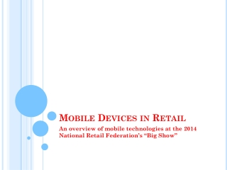 Mobile Devices in Retail