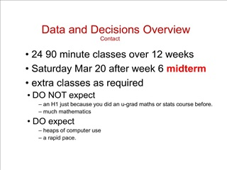 data and decisions overview