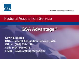 GSA Advantage ! ®