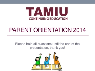 Parent Orientation 2014