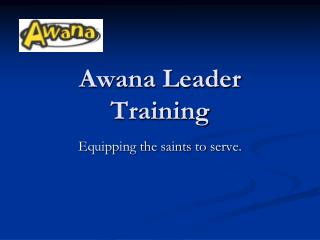 Awana Leader Training