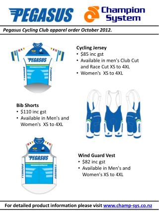 Cycling Jersey 	  	$85 inc gst  	Available in men's Club Cut 	and Race Cut XS to 4XL 	Women's  XS to 4XL