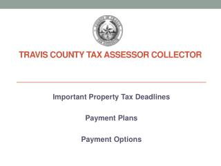 Travis County Tax Assessor Collector
