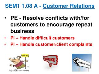 SEM1  1.08 A -  Customer  Relations