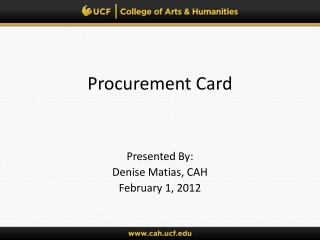 Procurement Card