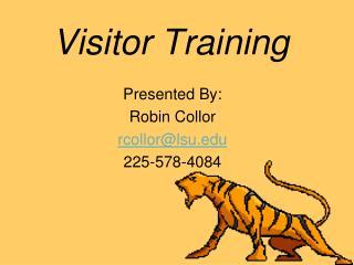 Visitor Training