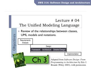 Lecture # 04 The Unified Modeling Language
