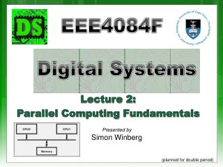 Lecture 2: Parallel Computing  Fundamentals