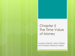 Chapter 5 The Time Value of Money