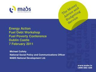 Energy Action Fuel Debt Workshop Fuel Poverty Conference Dublin Castle 7 February 2011