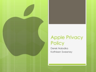 Apple Privacy Policy