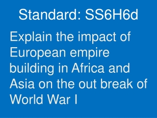 why study world war i