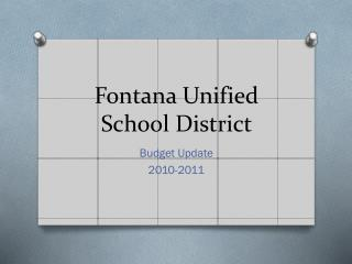 Fontana Unified School District