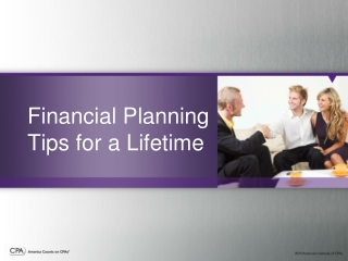 Financial Planning Tips for a Lifetime