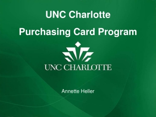 UNC  Charlotte Purchasing Card Program