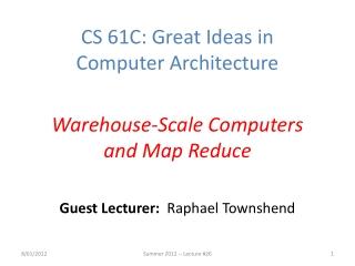 Guest Lecturer: Raphael Townshend