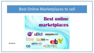 Best Online Marketplaces to sell