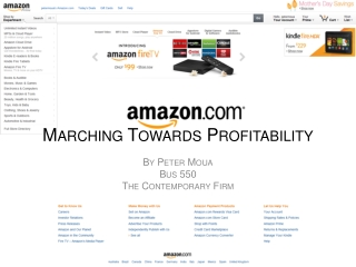 Marching Towards Profitability
