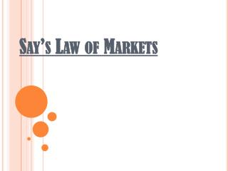 Say's Law of Markets