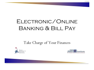 Electronic/Online Banking & Bill Pay