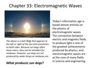 Chapter 33: Electromagnetic  Waves