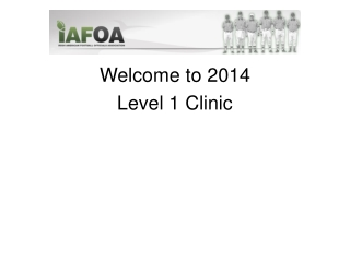Welcome to 2014 Level 1 Clinic