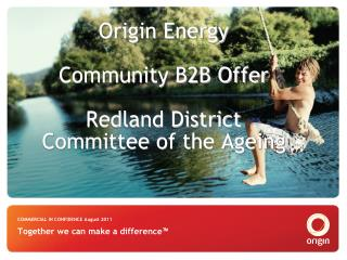 Origin Energy Community B2B Offer Redland District Committee of the Ageing