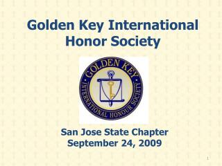 Golden Key International Honor Society