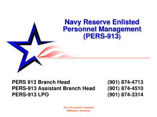 Navy Reserve Enlisted    Personnel Management     (PERS-913 )