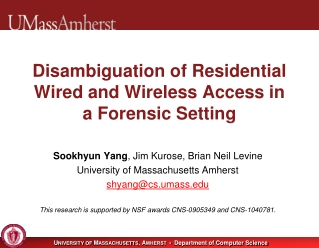 Disambiguation of Residential Wired and Wireless Access in a Forensic Setting