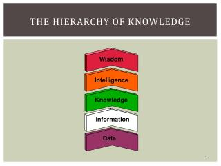The Hierarchy of Knowledge