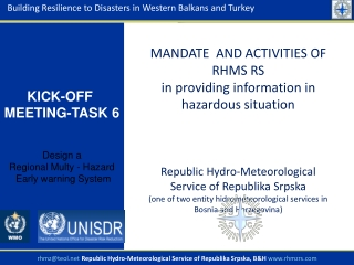 Building Resilience to Disasters in Western Balkans and Turkey