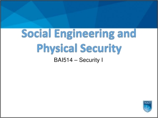 Social Engineering and Physical Security