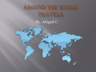 Around the world travels