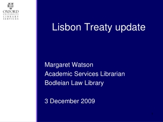 Lisbon Treaty update