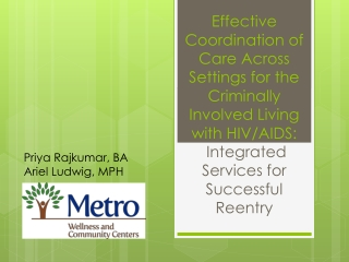 Effective Coordination of Care Across Settings for the Criminally Involved Living with HIV/AIDS : Integrated  Services f