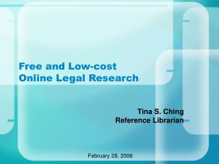 Free and Low-cost  Online Legal Research