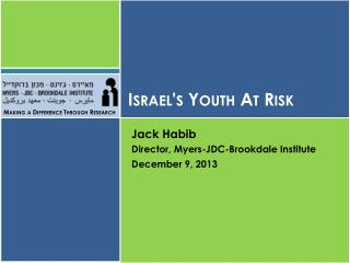 Israel's Youth At Risk