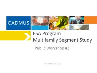 ESA Program  Multifamily Segment Study
