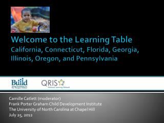 Welcome to the Learning Table California, Connecticut, Florida, Georgia, Illinois, Oregon, and Pennsylvania
