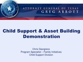 Child Support & Asset Building Demonstration