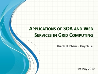 Applications of SOA and Web Services in Grid Computing