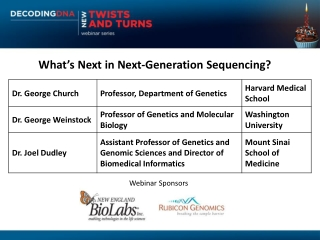 What's Next in Next-Generation Sequencing?