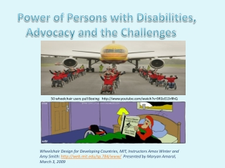 Power of Persons with Disabilities, Advocacy and the Challenges