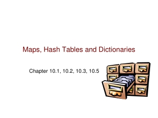 Maps, Hash Tables and Dictionaries